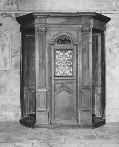 Confessionnal (n°6), bois sculpté