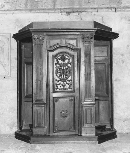 Confessionnal (n°7), bois sculpté