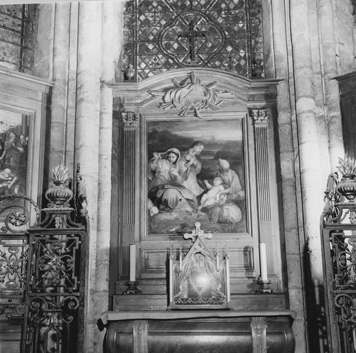 Autel de la chapelle du déambulatoire, tableau : La Nativité