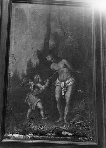 Tableau : Saint Sébastien, huile sur toile