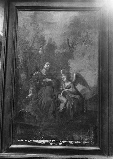 Tableau : saint Roch, huile sur toile