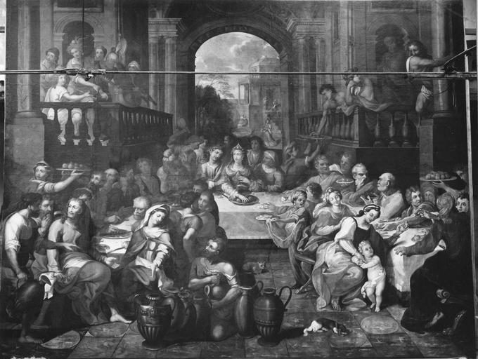 Tableau : Les Noces de Cana, huile sur toile