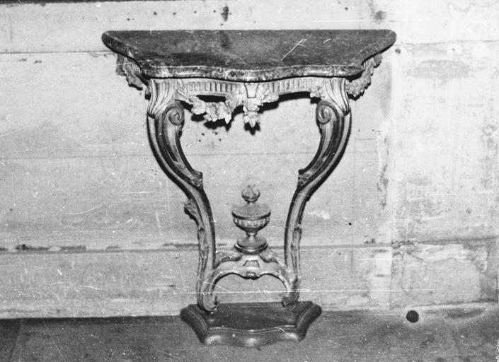 Petite console, plateau en marbre, style Louis XV