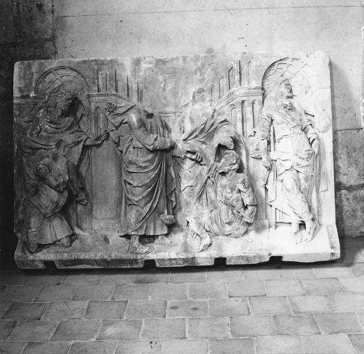 Bas-relief : scènes de la vie de saint Pierre et saint Paul, pierre, 1543