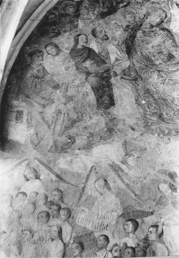 Peinture murale : le Jugement dernier, détail supérieur gauche