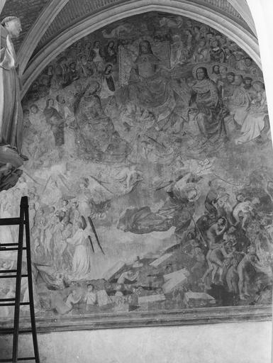 Peinture murale : le Jugement dernier, ensemble avant mise à jour
