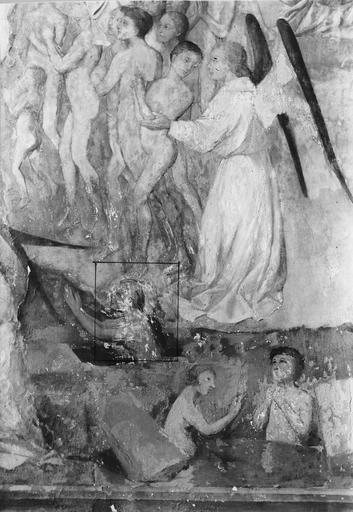 Peinture murale : le Jugement dernier, détail inférieur gauche