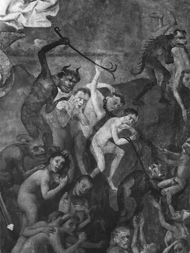 Peinture murale : le Jugement dernier, les Damnés