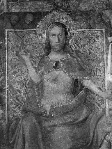 Peinture murale : le Jugement dernier, Christ