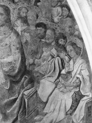 Peinture murale : le Jugement dernier, détail