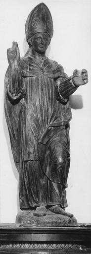 Statue : saint Nicolas de Bari ?, bois