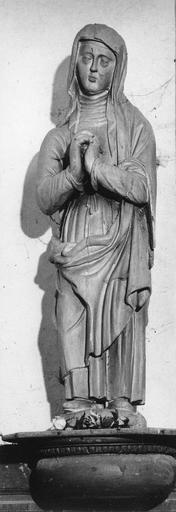 Statue: Vierge, bois