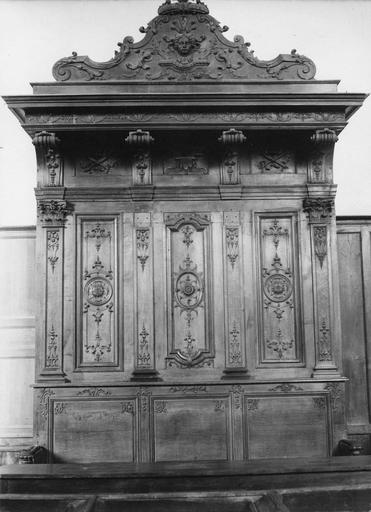 Banc d'oeuvre, bois sculpté
