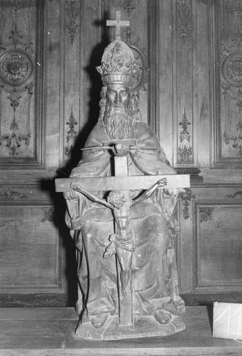 Groupe sculpté : la Trinité, bois