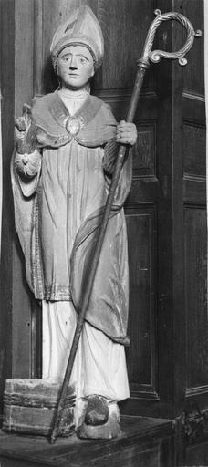 Statue : saint Nicolas, bois