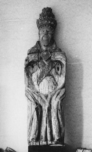 Statue : Dieu le Père ou Trinité ?, bois