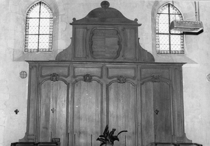 Banc d'oeuvre, bois, provenant de l'abbaye de l'Eau