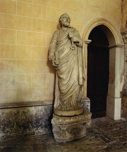 Statue : Saint Pierre, terre cuite