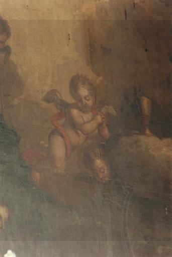Détail du tableau : Marie Salomé demande au Christ une place à côté de lui pour ses fils