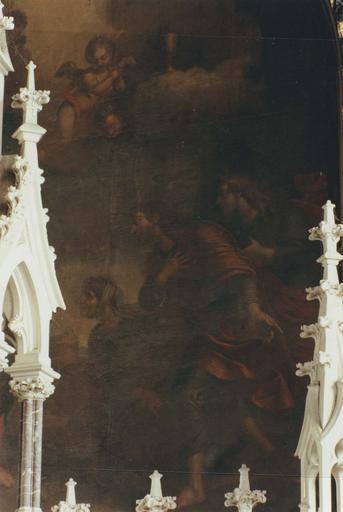 Tableau : Marie Salomé et le Christ, détail de la partie droite, Marie Salomé et ses fils