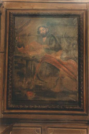 Tableau : saint Luc, huile sur toile