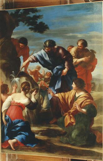 Tableau : Moïse fait jaillir l'eau du rocher, huile sur toile, entre 1657 et 1660