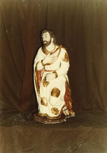 Groupe sculpté : la Nativité ou crèche, saint Joseph