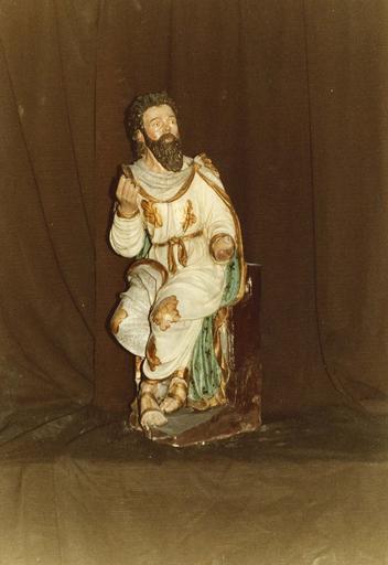 Groupe sculpté : la Nativité ou crèche, Moïse