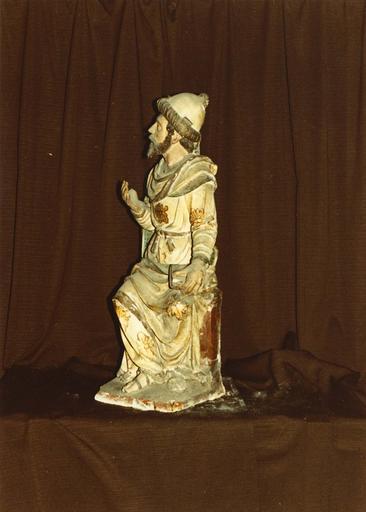Groupe sculpté : la Nativité ou crèche, Ezéchiel