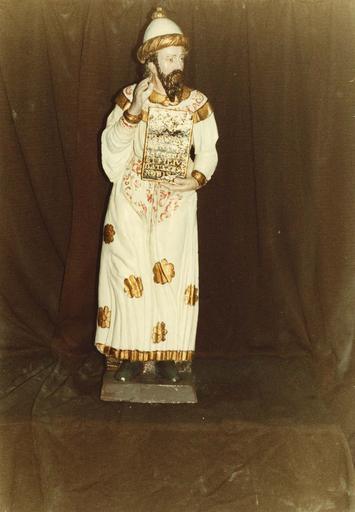 Groupe sculpté : la Nativité ou crèche, Isaïe