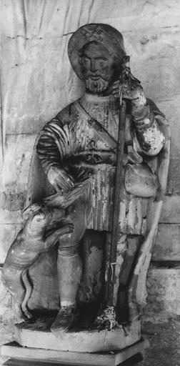 Statue : saint Roch, terre cuite