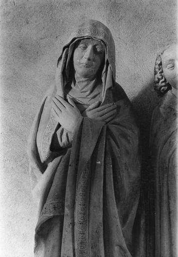 Groupe sculpté : la Mise au tombeau, Vierge