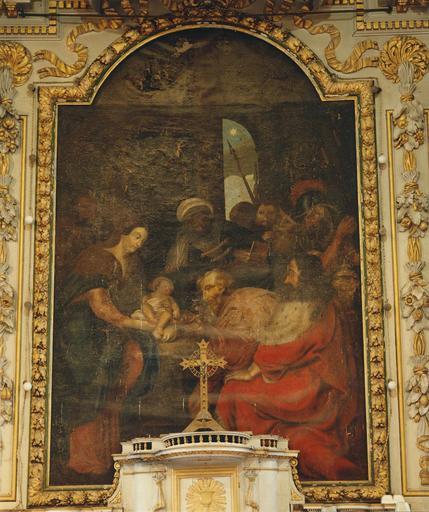 Tableau : L'Adoration des Mages, huile sur toile