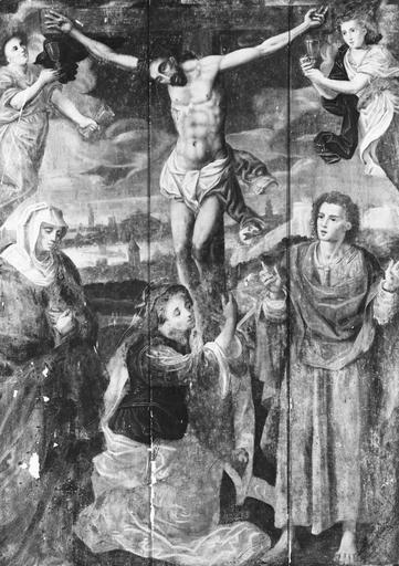 Tableau : Crucifixion, panneau peint