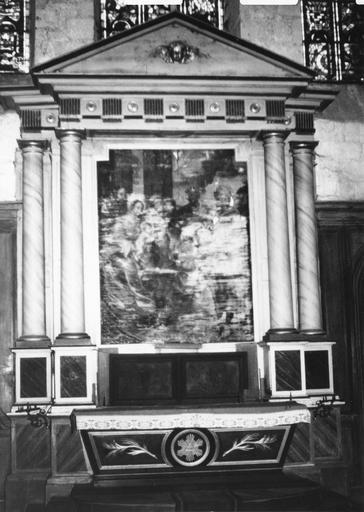 Autel, retable, tableau (maître-autel, tableau d' autel) : l' Adoration des Mages