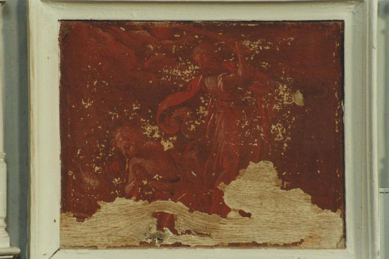 Paneau peint : Sacrifice d'Abraham, huile sur bois