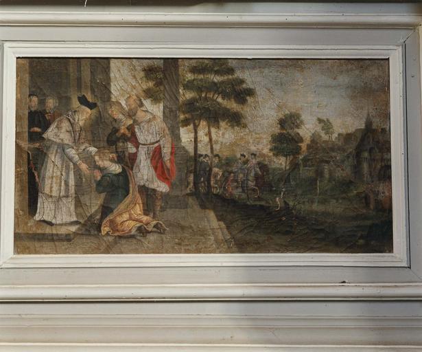Retable, prédelle : Scènes de la vie de saint Germain