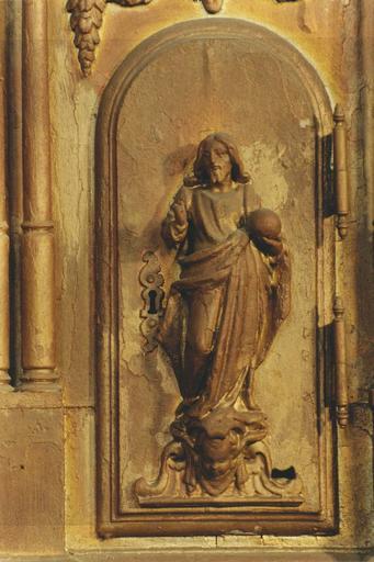 Statue du tabernacle, Christ