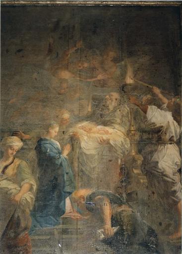 Tableau : la Présentation de Jésus au temple, détail