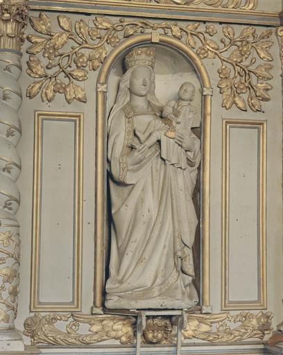Groupe sculpté : Vierge à l'Enfant