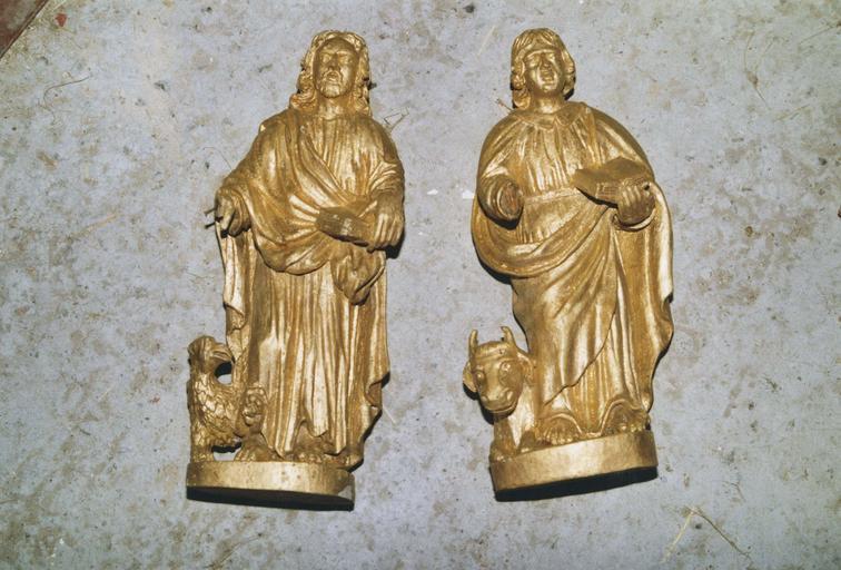 2 statuettes : saint Luc et saint Jean