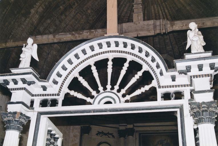 Clôture de choeur, détail de la partie haute