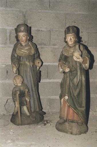 Statues : Saint Côme et saint Damien (?)