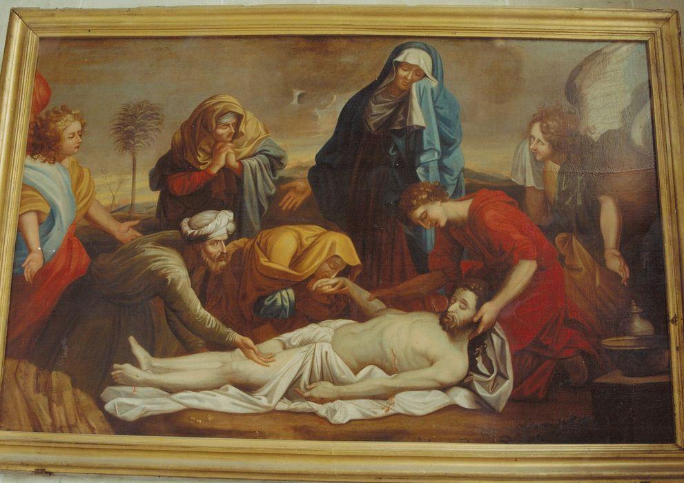 Tableau : L'Ensevelissement du Christ dans le Sépulcre