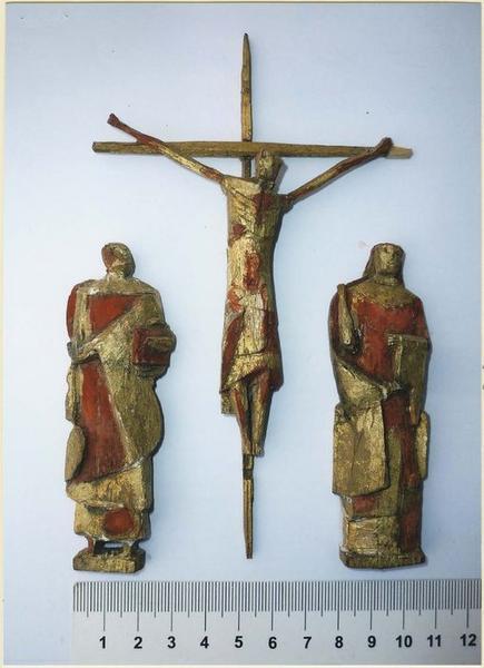 maquette du projet du groupe de la Crucifixion réalisée pour l'église Saint-Louis à Brest, vue générale