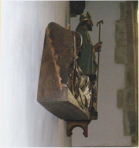 Bas-relief : Vierge parturiente, détail de la vue latérale gauche