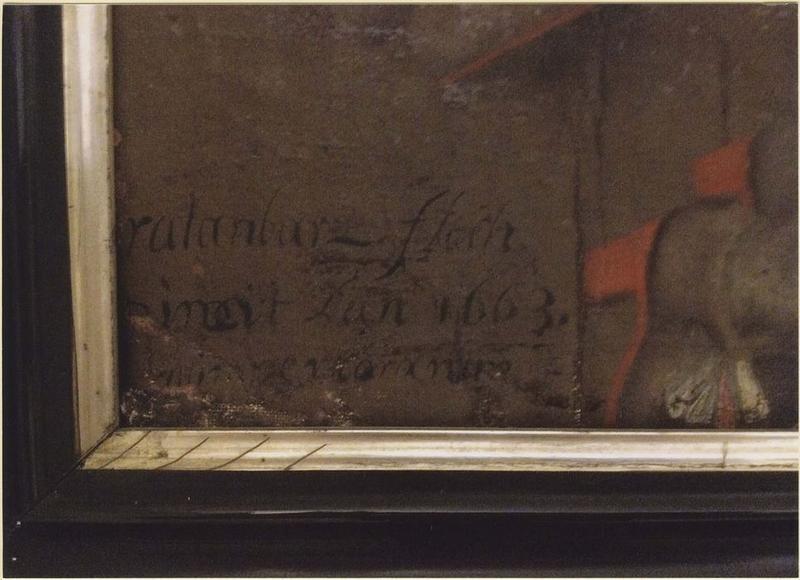 Tableau et son cadre (ex-voto n° 2) : Michel Le Nobletz, détail