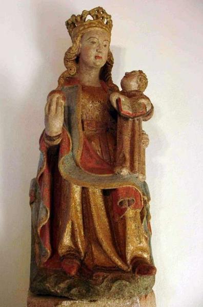 Statue : Vierge à l'enfant assise, dite Notre-Dame de Kerzéan