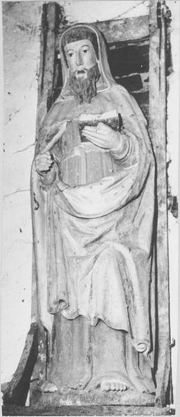 statue : sainte Ruélin, vue générale