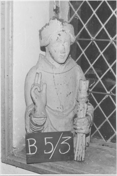 Buste : Saint personnage bénissant